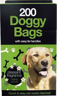 DOGGY BAGS Scented Pet Pooper Scooper Bag Dog Cat Poo Waste Toilet Poop New