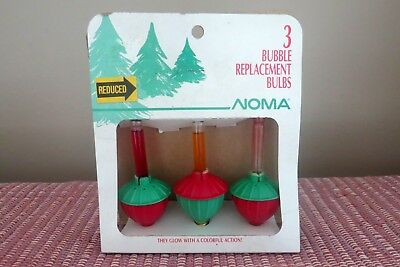 Vintage Noma Bubble Light Replacement Christmas Bulbs - Pack of 3 (2 Working)