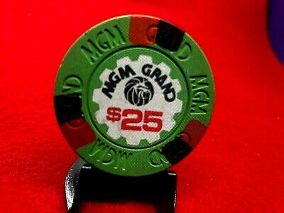 "$25 MGM GRAND LV 6th iss R6 1980's SU  LOW BOOK$200 RATED ""M"" W/CAP ONLY"