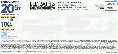 2 BBB Bed Bath Beyond 20% off single item expires 1/6 and 2/3