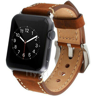 Genuine Leather iWatch Band Men Casual Strap For Apple Watch5 3 2 1 38/42mm/44mm