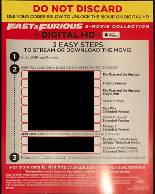 Fast & Furious 8-Movie Collection (Digital HD Copy from the Blu-ray Set)