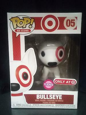 Funko Pop Ad Icons BULLSEYE (FLOCKED)! Target Exclusive! Brand New In Hand! #05