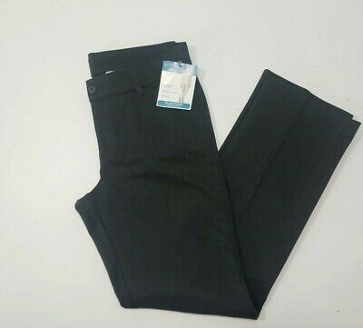Riders by lee Womens Gray  instantly slims you straight-leg pants Sz 12 Long