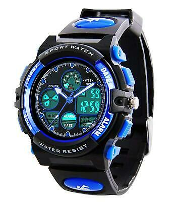 Kids Digital Sports Watches Boys Waterproof Sport Watch With Alarm Stopwatch LED