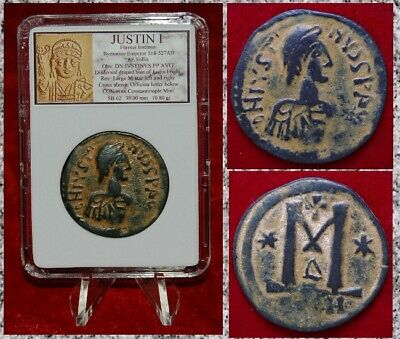 Ancient Byzantine Empire Coin JUSTIN I Large Bronze Follis