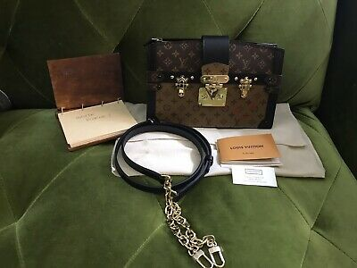 Auth Brand New 2019 Louis Vuitton Monogram Reverse Trunk Clutch Crossbody Bag
