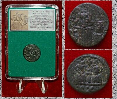 Ancient Byzantine Empire Coin CONSTANS II and CONSTANTINE IV Imperial SUPER RARE