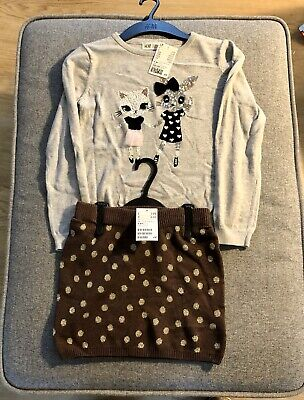 Girls Clothes Bundle Age Uk 6-8  Top & Skirt NEW With Tags