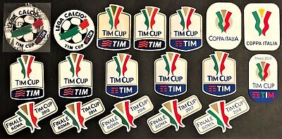 """TOPPE ufficiali varie stagioni """"COPPA ITALIA-TIM CUP"""" official patch mix seasons"""