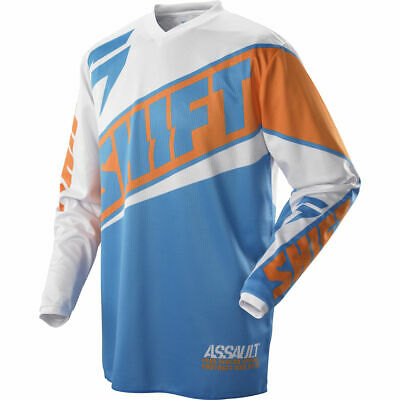 Neu Shift Racing Assault Race Orange Blau Weiß Motocross Jersey Trikot OUTLET