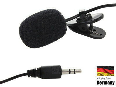 Mini 3.5mm Clip Mikrofon Lavalier Speech Microphone Für Smartphone PC Laptop