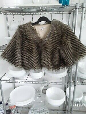 Girls faux fur party jacket Red Herring age up to 13 years 158cm height