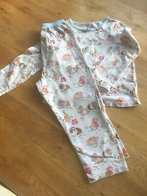 Girls Cath Kidston Pattern Pyjamas Age 3-4 Years - Guinea Pigs
