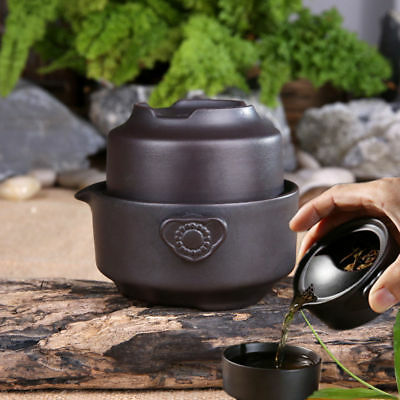 China tea set black tea pot cup yixing purple clay kung fu tea set for travel