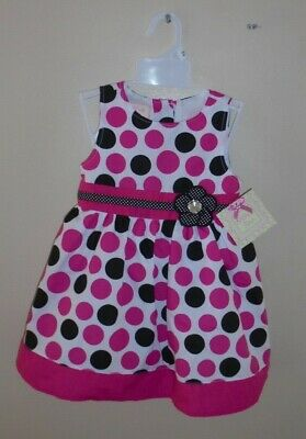 Bnwt Girls Beautiful Spotted Party Dress & Knickers Set Age 2 Years - Sophie Fae