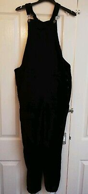 Womens black dungarees Size 8