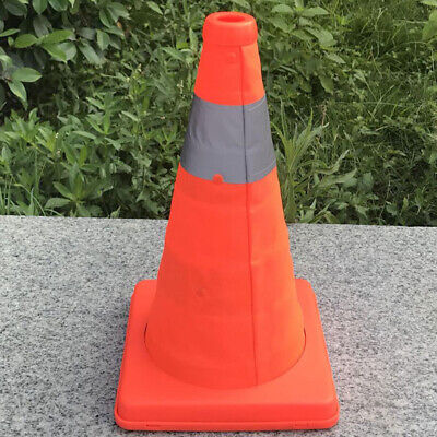 18'' Collapsible Traffic Cones Multi Purpose Pop up Reflective Safety Cone