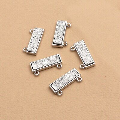 6pcs antiqued Silver Birds In Cage 3D Connector G198
