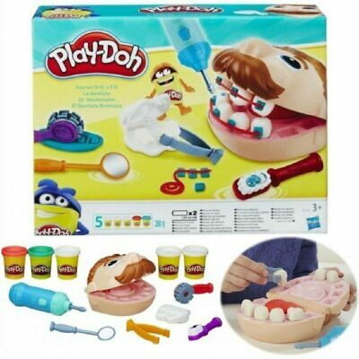 New Kids Toy PLAY-DOH Young Doctor Dentist Drill 'n Fill Family Play Teeth Gift*