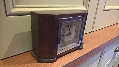 Vintage Deco Smiths electric clock, solid wooden case. For restoration