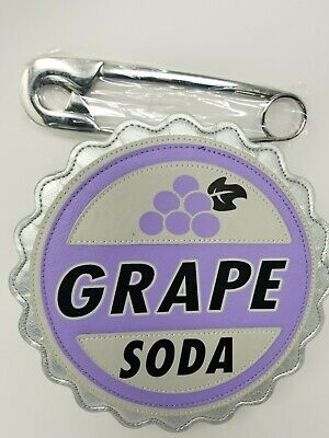 Disney Parks Pixar Up Grape Soda Safety Pin Handle Bag Purse NWT