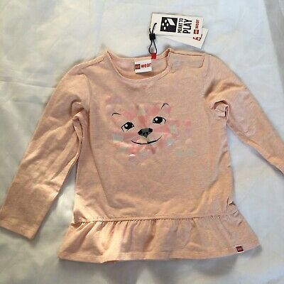 Brand NEW 💜 Girls LEGO long sleeved top with motif pink age 3 years