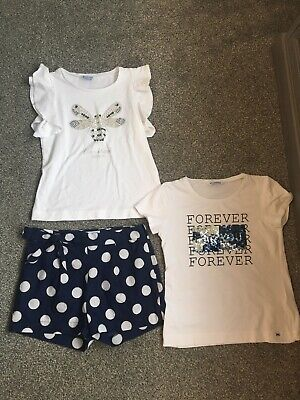 Designer Mayoral Girls Childs Outfit Set Tops Shorts Age 12 Yrs 152cm Worn Once