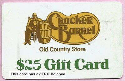 Cracker Barrel Restaurant Collectible No Value Gift Card - Buy 6 Ship FREE