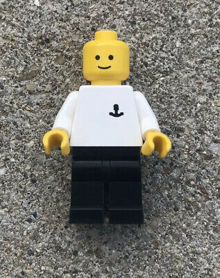Lego boat003 Minifigures Boat Worker Torso with Anchor Black Legs