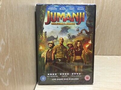 Jumanji welcome to the Jungle DVD New & Sealed Region 2 Dwayne Johnson