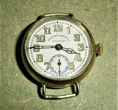 Vintage WW1 West End Watch Company, Matchless Officers Wrist Watch