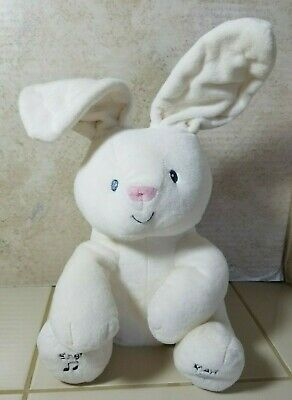 Gund Baby Flora The Bunny Peek-a-Boo Animated Talking &Singing Plush Toy - 12""