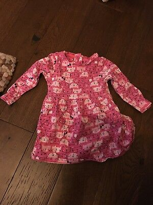 Baby Girl 9 To 12 Months Mothercare Pink Cat Dress