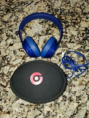 Beats By Dre Solo Headphones~Cobolt Blue~ Sold AS IS~