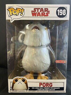 Funko Pop! Star Wars Porg 10 inch The Last Jedi #198 ***Damaged Box