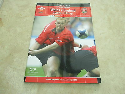 Wales v England  Saturday 23rd August 2003 Investec Challenge Match Programme