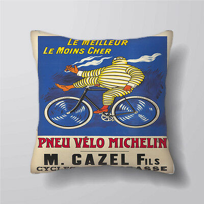 Michelin Man Tire Bike on Cushion Covers Pillow Cases Decor Inner