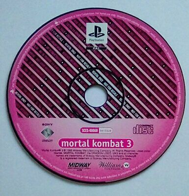 *RARE PROMO DISK ONLY* Mortal Kombat 3 Playstation 1 One PS1 PSOne PS PSX