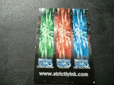 Doctor Who Strictly Ink Rare  Promo Trading Card