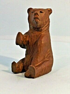 Antique ~ Carved Wood (Seated) Black Forest Bear