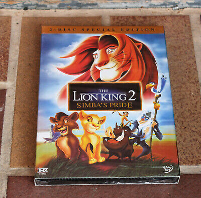 Disney The Lion King 2 Simba's Pride 2-Disc Special Edition Slipcover New Sealed