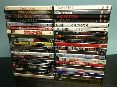 40 Brand New Factory Sealed DVD Lot - Blow, Lord of the Ring, Airplane & More