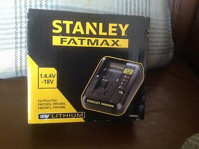 Stanley Fatmax 18v Lithium Battery Charger New Boxed