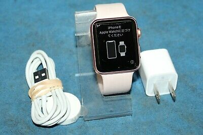Apple Watch Series 3 42mm Gold Aluminium Case with Pink Sand Sport Band GPS