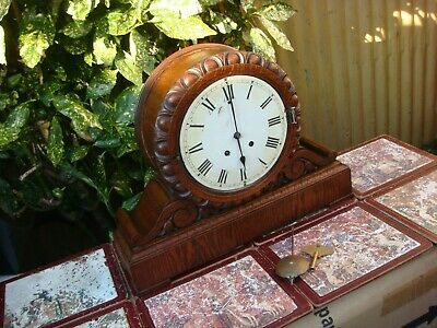 Antique Vintage Lenzkirch Strike Mantle Clock For Restoration Spare Or Repair