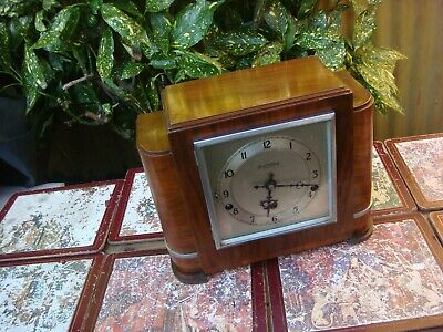 Vintage  Westminster Chime Mantle Clock For Restoration Spare Or Repair