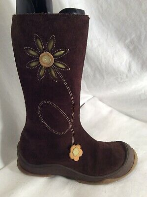 Bellamy Girls Brown Leather Boots Size 31