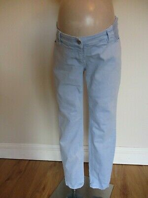 Next Maternity Light Blue Denim Under Bump Skinny Jeans Size 14