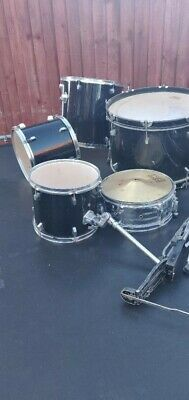 5 Piece Junior Drum Kit With Stool & Sticks In Red Beginners Mucic Musical Set